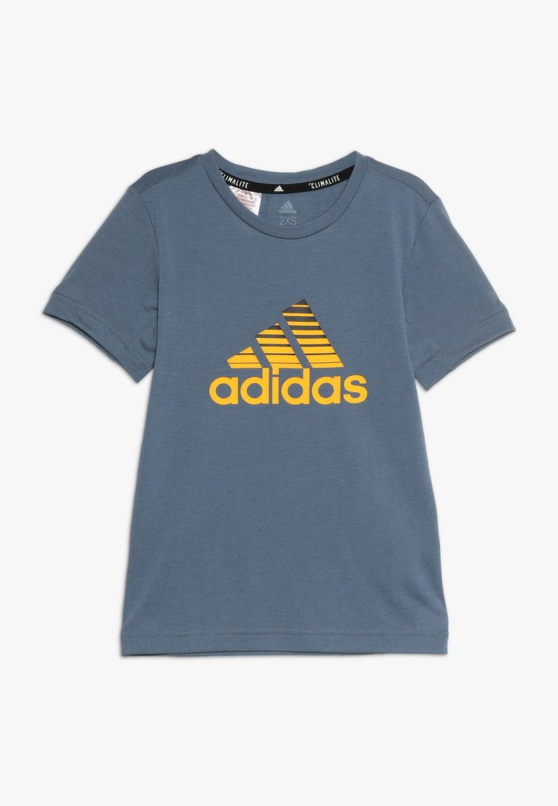 adidas Performance - PRIME TEE - T-shirts med print - tech ink/active gold/black
