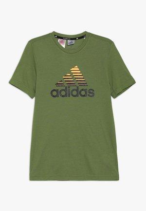 PRIME TEE - T-shirt print - olive/black