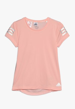 RUN TEE - T-shirts med print - glow pink/silver