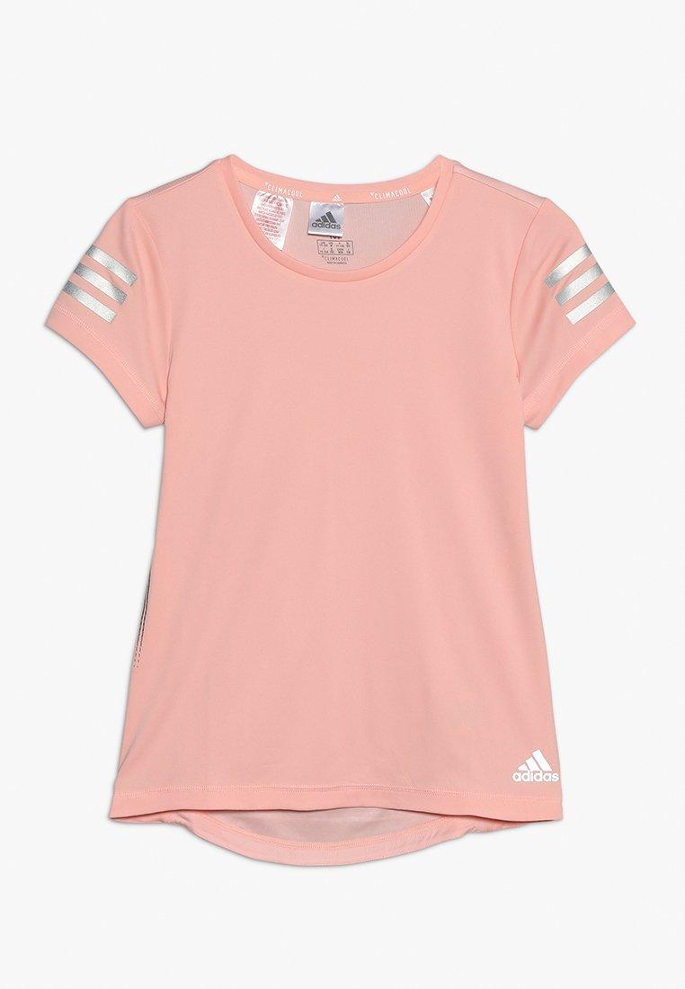 adidas Performance - RUN TEE - T-shirt imprimé - glow pink/silver
