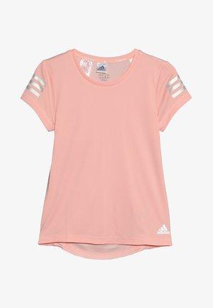 RUN TEE - T-shirt imprimé - glow pink/silver