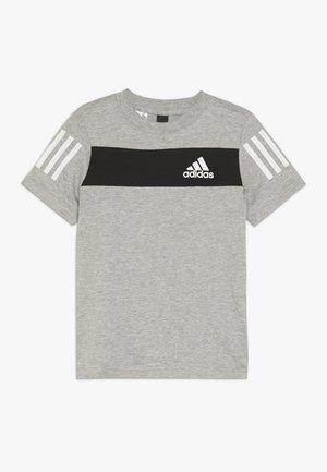 SID TEE - T-shirt print - mottled grey/black