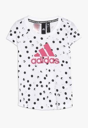 TEE - T-shirt print - white/black/real pink