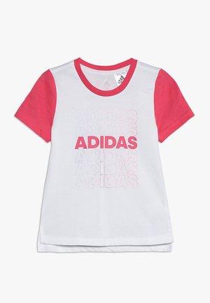 TEE - T-shirts print - white/real pink