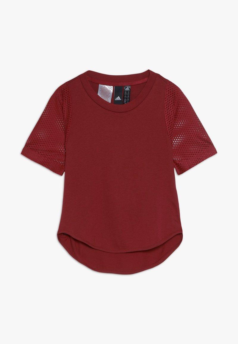 adidas Performance - TEE - T-shirt print - active maroon/maroon