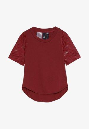 TEE - T-shirt print - active maroon/maroon