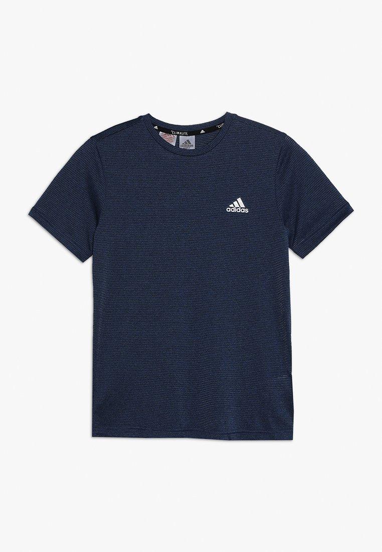 adidas Performance - TEE - T-Shirt print - blue/tech ink/black