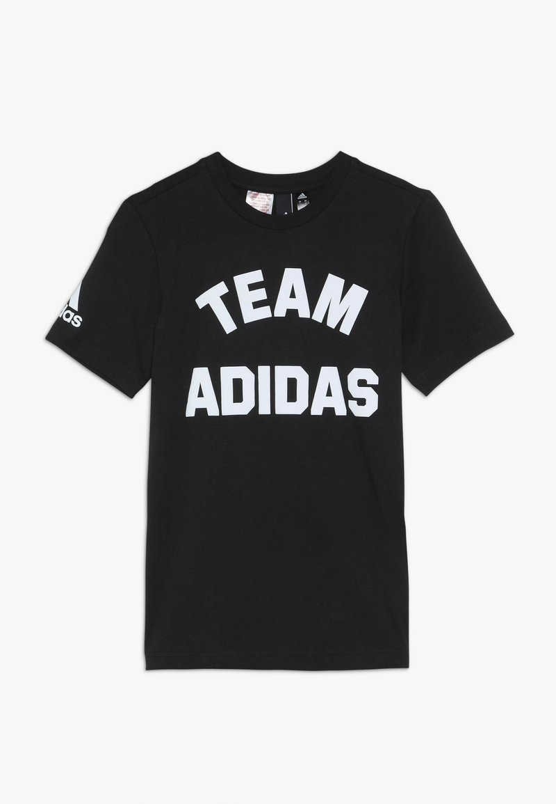 adidas Performance - VARSITY - T-shirt med print - black