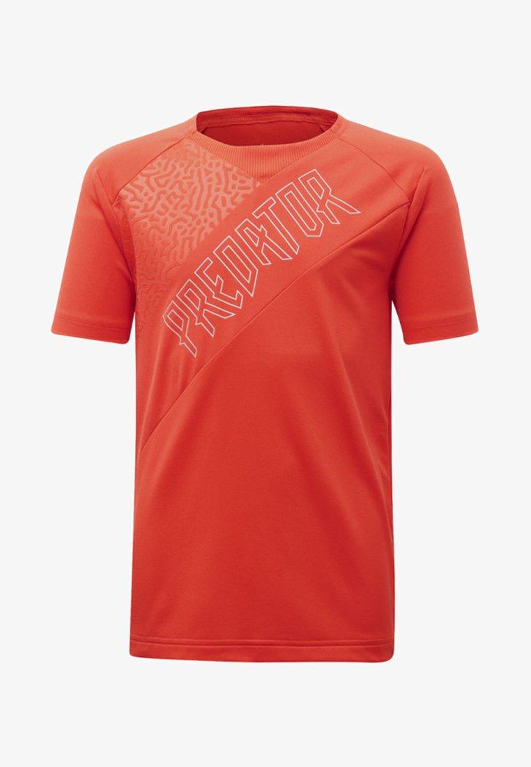 adidas Performance - PREDATOR JERSEY - T-shirts med print - red