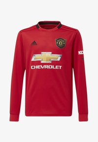 adidas Performance - MANCHESTER UNITED HOME JERSEY - Klubbklær - red - 0