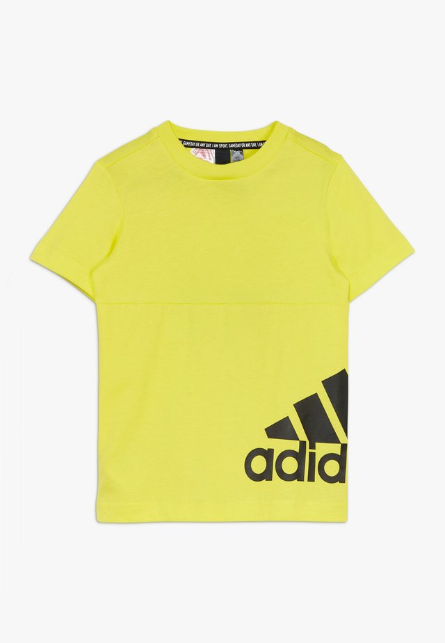 T-shirt con stampa - yellow/black