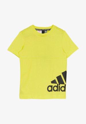 T-shirt imprimé - yellow/black