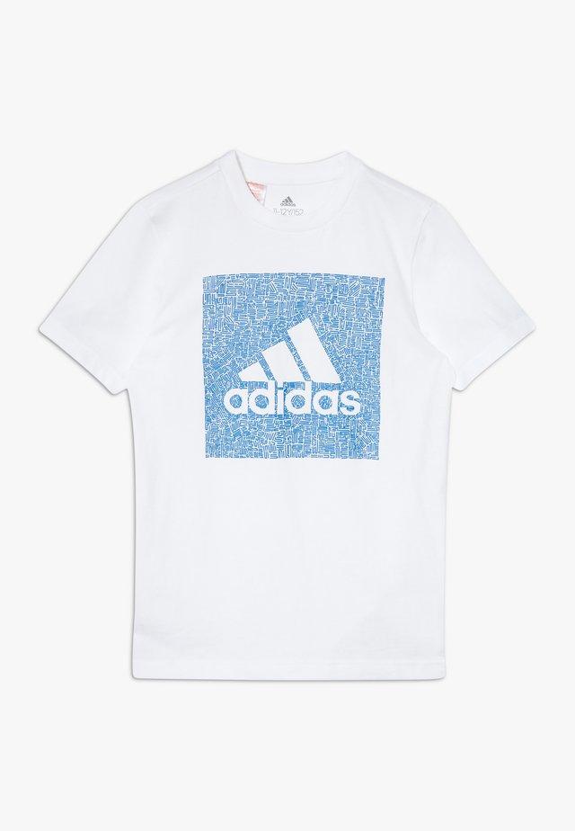 BOS BOX - Camiseta estampada - white/blue
