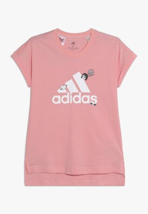 BADGES ATHLETICS SHORT SLEEVE GRAPHIC TEE - T-shirt z nadrukiem - pink