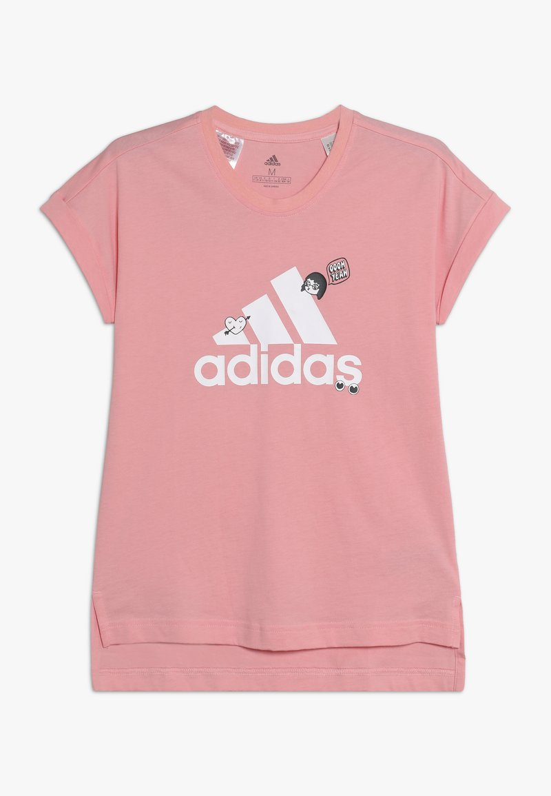 adidas Performance - BADGES TEE - T-shirt print - pink