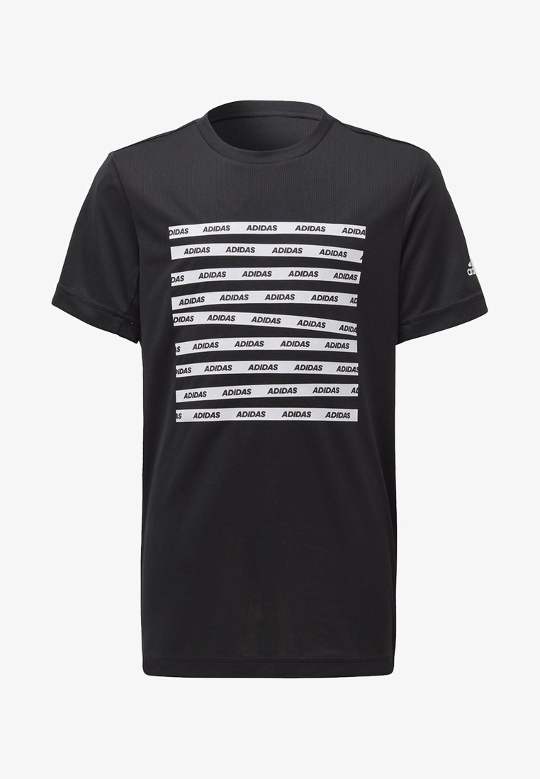 adidas Performance - ALL CAPS T-SHIRT - T-shirts med print - black