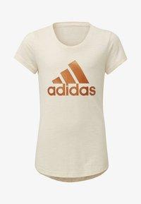adidas Performance - ID WINNER T-SHIRT - T-shirt print - beige - 0
