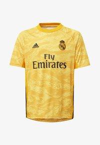 adidas Performance - REAL MADRID HOME GOALKEEPER  - Squadra - yellow - 0
