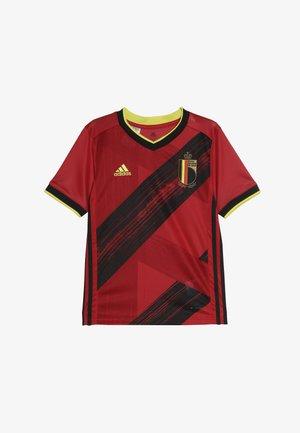 BELGIUM RBFA HOME JERSEY - Oblečení národního týmu - collegiate red