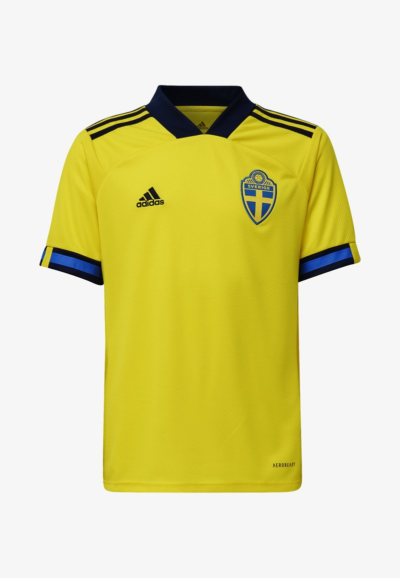 adidas Performance - SWEDEN SVFF HOME JERSEY - Squadra nazionale - yellow/night indigo