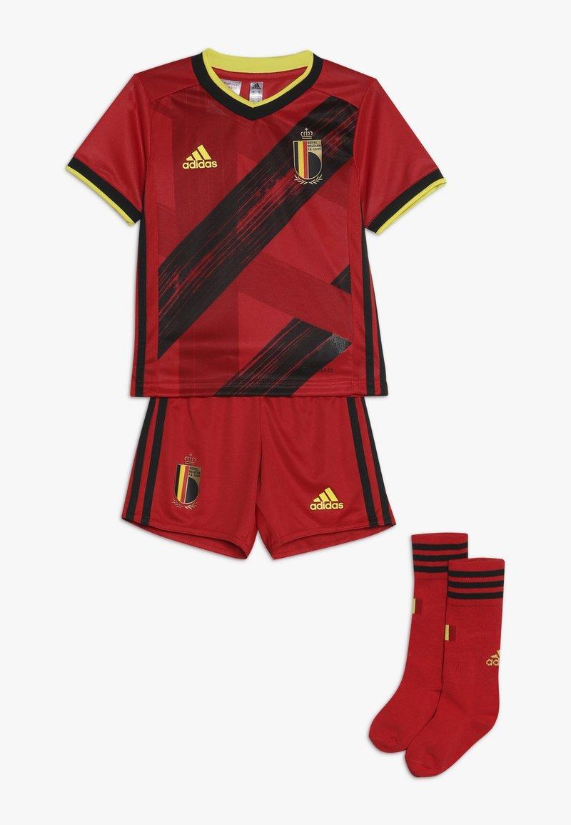 adidas Performance - BELGIUM RBFA HOME JERSEY MINI - Pantaloncini sportivi - red/black/yellow