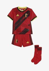adidas Performance - BELGIUM RBFA HOME JERSEY MINI - Pantaloncini sportivi - red/black/yellow - 4