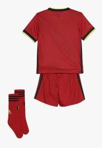 adidas Performance - BELGIUM RBFA HOME JERSEY MINI - Pantaloncini sportivi - red/black/yellow - 1