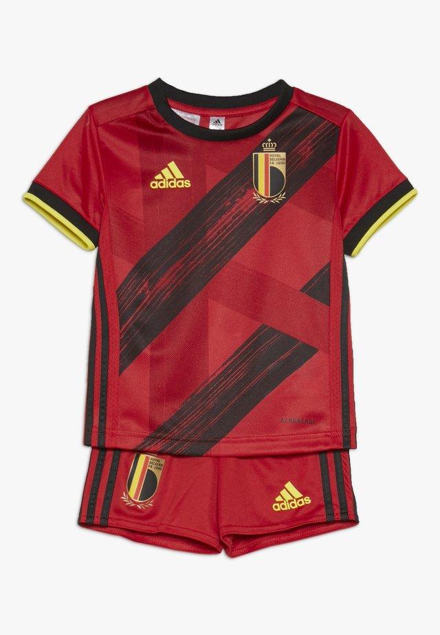 BELGIUM RBFA HOME JERSEY - Oblečení národního týmu - collegiate red/black/yellow