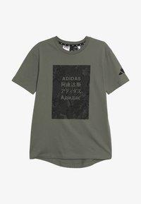 adidas Performance - TEE - T-shirt print - legend green/black - 2