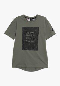 adidas Performance - TEE - T-shirt print - legend green/black - 0