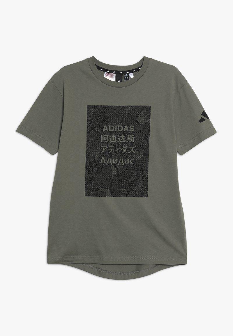 adidas Performance - TEE - T-shirt print - legend green/black