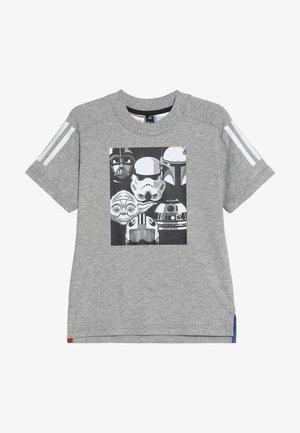 TEE - Printtipaita - grey/black