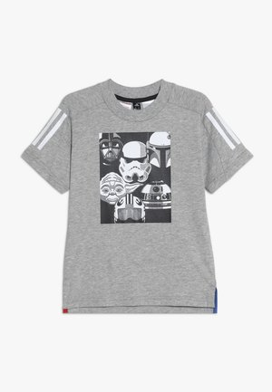 TEE - T-shirt med print - grey/black