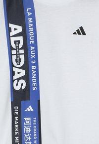 adidas Performance - TEE - Camiseta estampada - white - 3