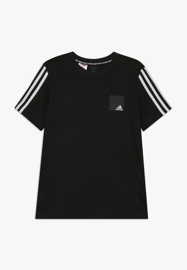 LOGO TEE - Camiseta estampada - black/white