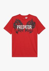 adidas Performance - PREDATOR TEE - T-shirt print - vivid red - 0