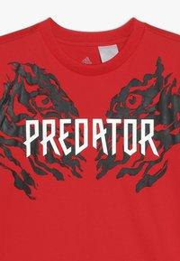 adidas Performance - PREDATOR TEE - T-shirt print - vivid red - 3