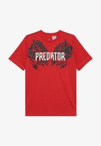adidas Performance - PREDATOR TEE - T-shirt print - vivid red - 2