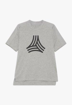 TEE - Printtipaita - medium grey heather/black