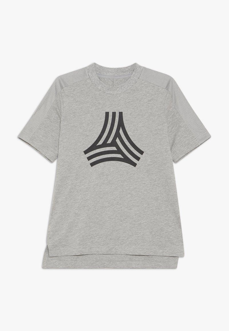 adidas Performance - TEE - T-shirt z nadrukiem - medium grey heather/black
