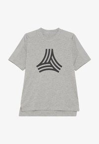 adidas Performance - TEE - T-shirt z nadrukiem - medium grey heather/black - 2
