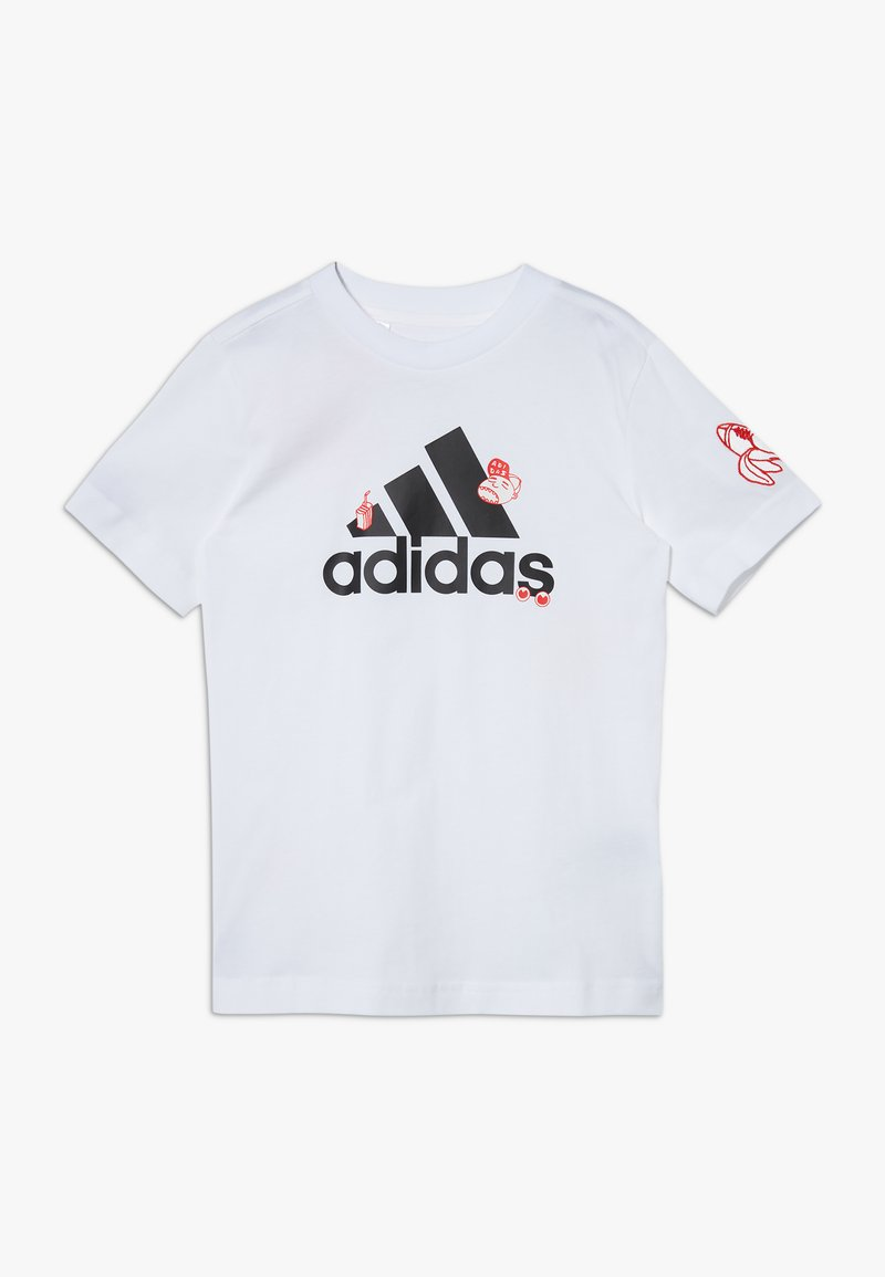 adidas Performance - BADGES - T-shirt con stampa - white