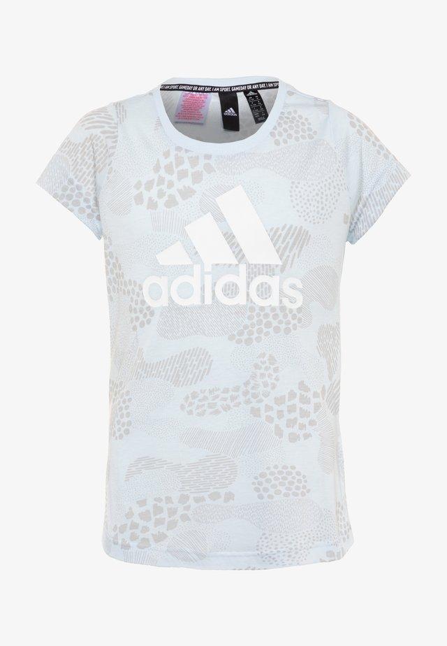 TEE - Print T-shirt - sky tint/ash grey/white