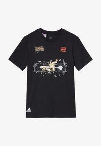 adidas Performance - MARVEL PAN - Camiseta estampada - black - 3