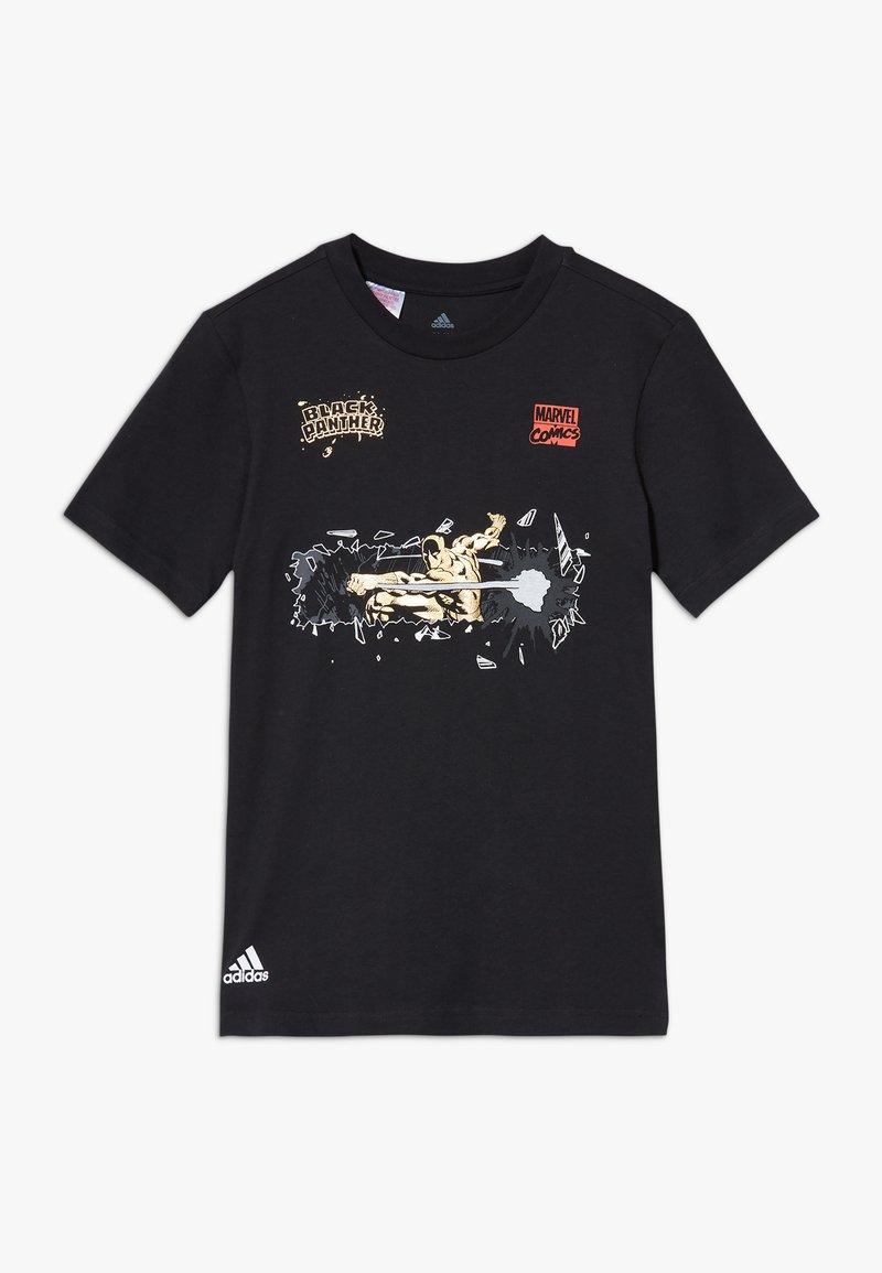 adidas Performance - MARVEL PAN - Camiseta estampada - black
