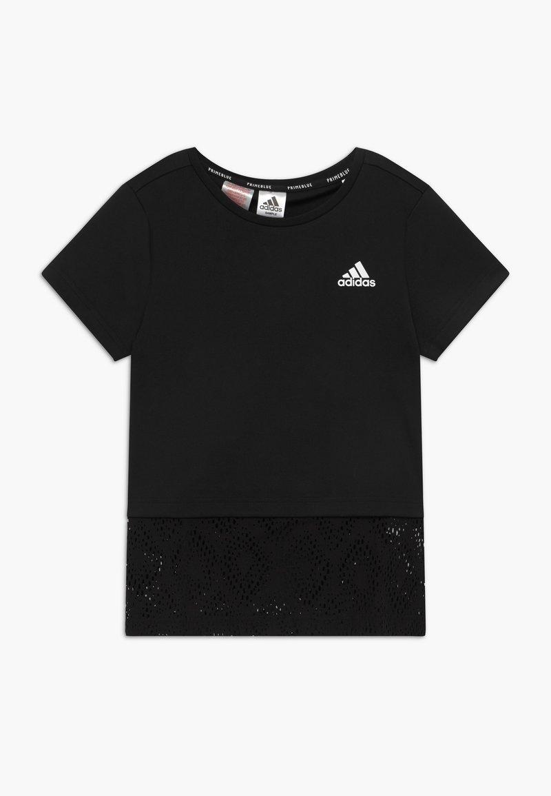 adidas Performance - Print T-shirt - black/white