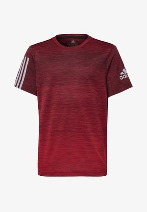 GRADIENT T-SHIRT - T-shirt con stampa - black/red