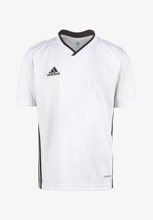 TIRO 19 FUSSBALLTRIKOT KINDER - T-shirt print - white/black
