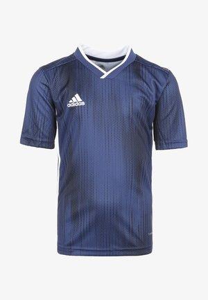 TIRO 19 FUSSBALLTRIKOT KINDER - Print T-shirt - dark blue/white
