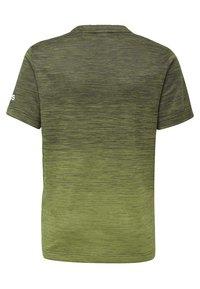 adidas Performance - GRADIENT T-SHIRT - T-Shirt print - green - 1